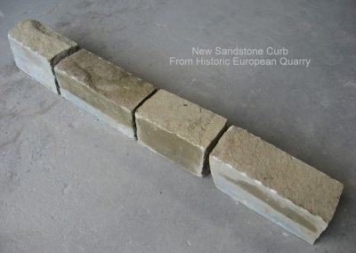 New custom fabricated curb from historic quarry