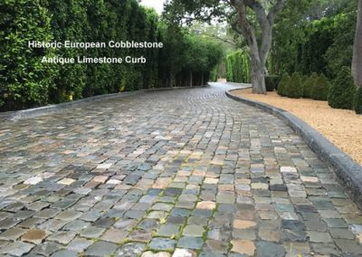 Antique Sandstone Cobble and Limestone Curb