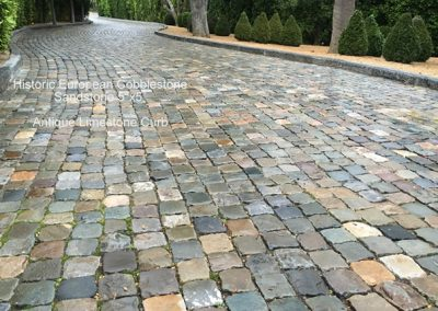 Antique Sandstone 5x5 Cobble and Limestone Curb