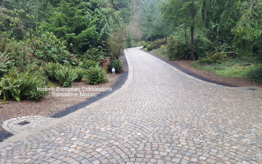 8,500 sf Historic European Cobblestone Driveway, WA