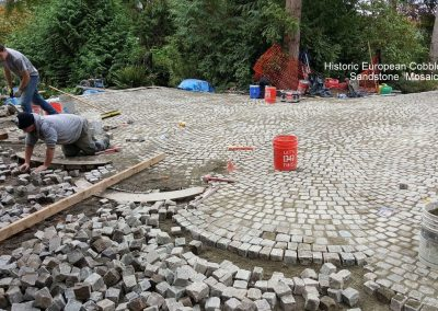 80. Antique Sandstone Mosaic Cobble Install, WA