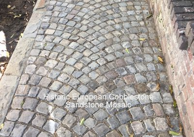 66. Antique Sandstone Mosaic Cobblestone-Fan Pattern