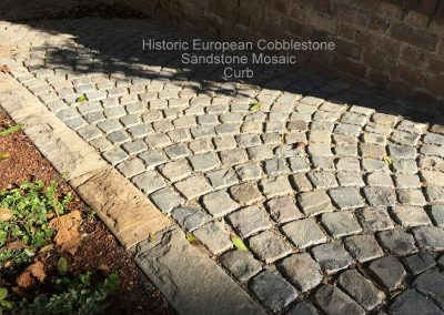 Antique Sandstone Mosaic Cobblestone-New Sandstone Curb