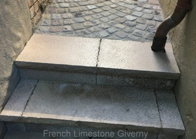 68. French Limestone Giverny Steps - Cobblestone Walkway