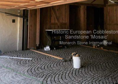 72. Historic European Cobblestone Sandstone Mosaic