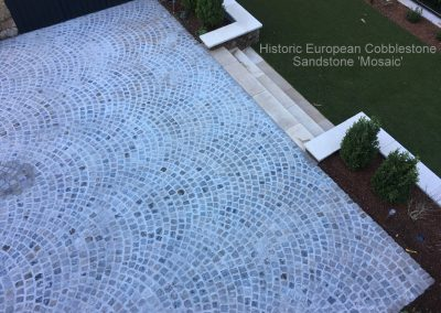 69.Historic European Cobblestone Sandstone Mosaic