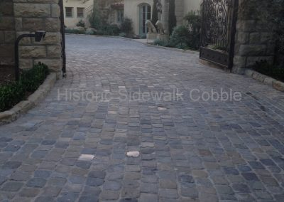 72. Historic Sidewalk Cobble, Montecito CA