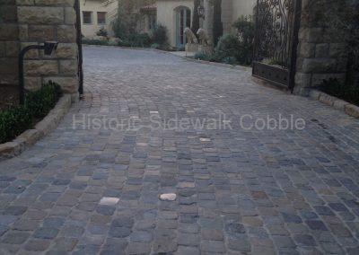 74. Historic Sidewalk Cobble, Montecito CA