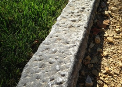 40. Antique Limestone Curb