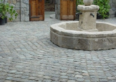 22- 6x6 antique granite cobblestone, Pebble Bch CA