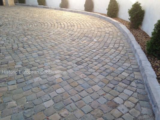 Granite Block Curb : Home antique reclaimed old granite cobblestone