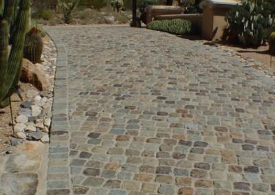 H108-Antique Granite Cobble 6x6. Scottsdale, AZ