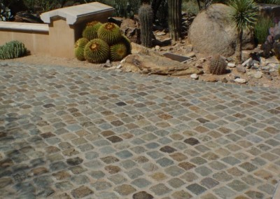 29. Antique Granite Cobble 6x6. Scottsdale, AZ
