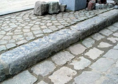 45. Antique Limestone Curb