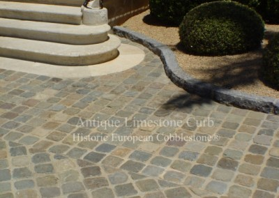 18.Antique Cobble and Limestone Curb, Montecito CA