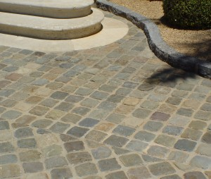 Permeable Surface Using Natural Stone Paving