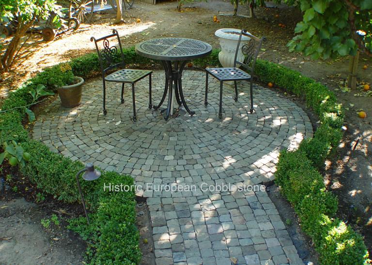 Garden Nooks Using Reclaimed Cobblestone