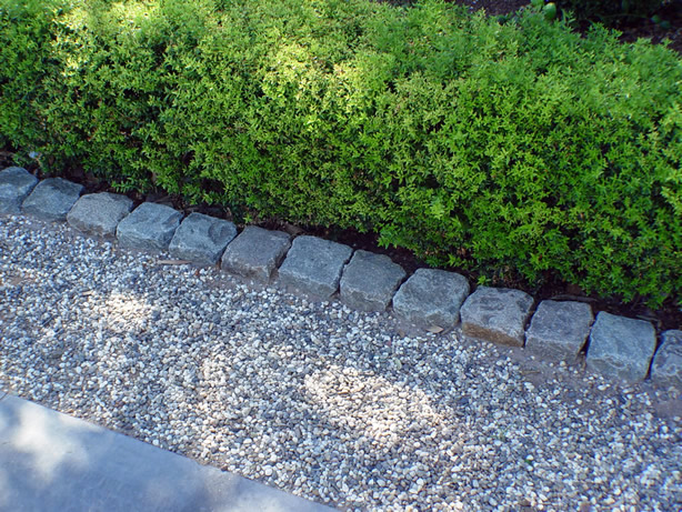 Landscape Edging Granite : Great garden edges with granite cobblestone curb antique reclaimed