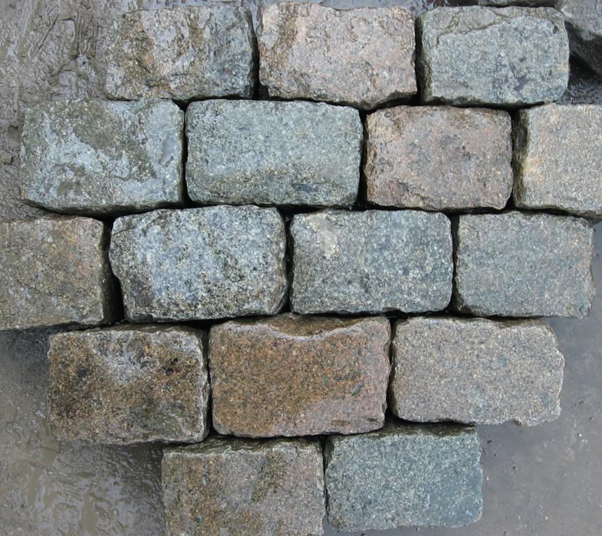 Granite Block Curb : Belgian block cobblestone sett cube antique reclaimed