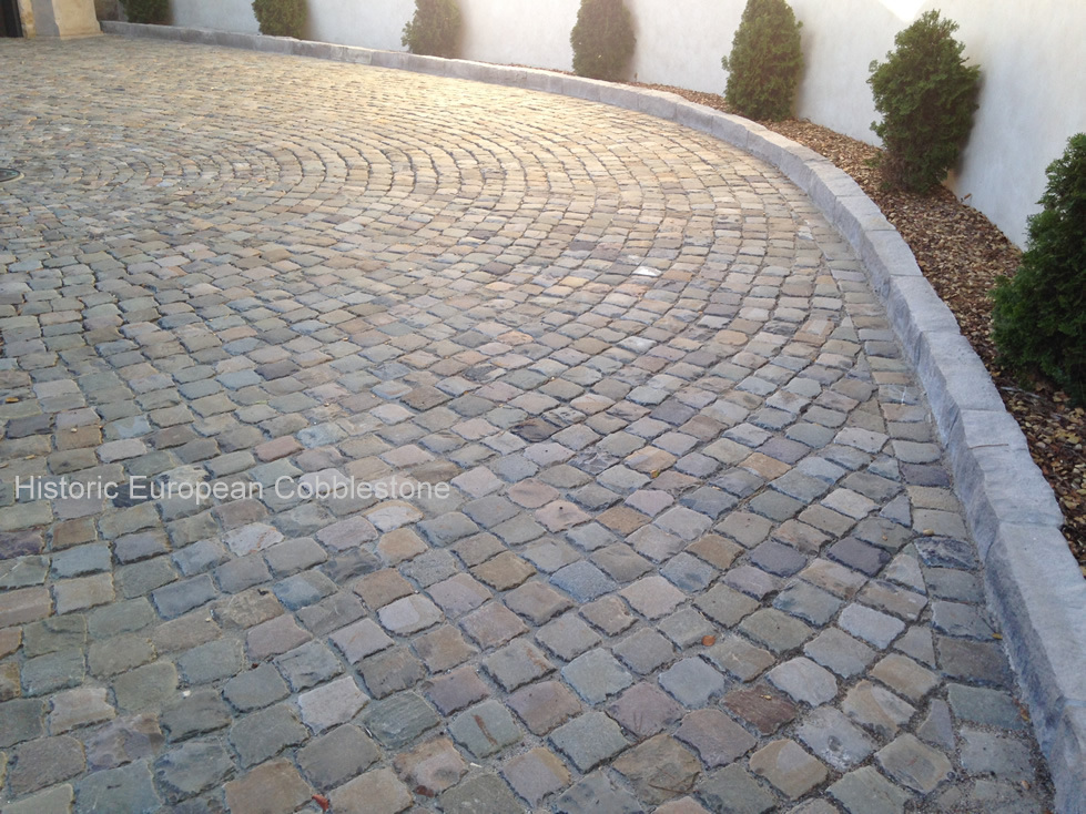 Cobblestone Stones For Driveways : Comparing antique granite to sandstone cobblestone