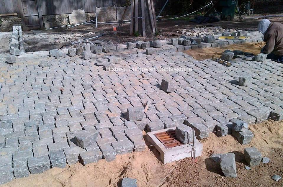 Granite Cobblestone, Herringbone Pattern