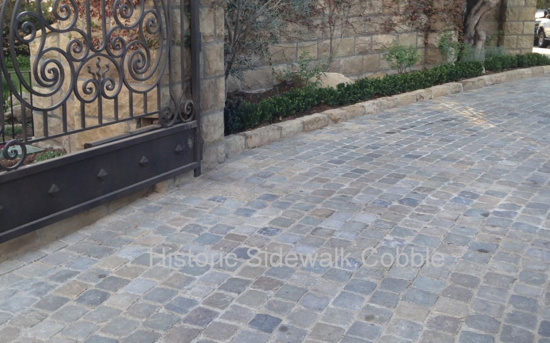 Antique Reclaimed Historic Sidewalk Cobble