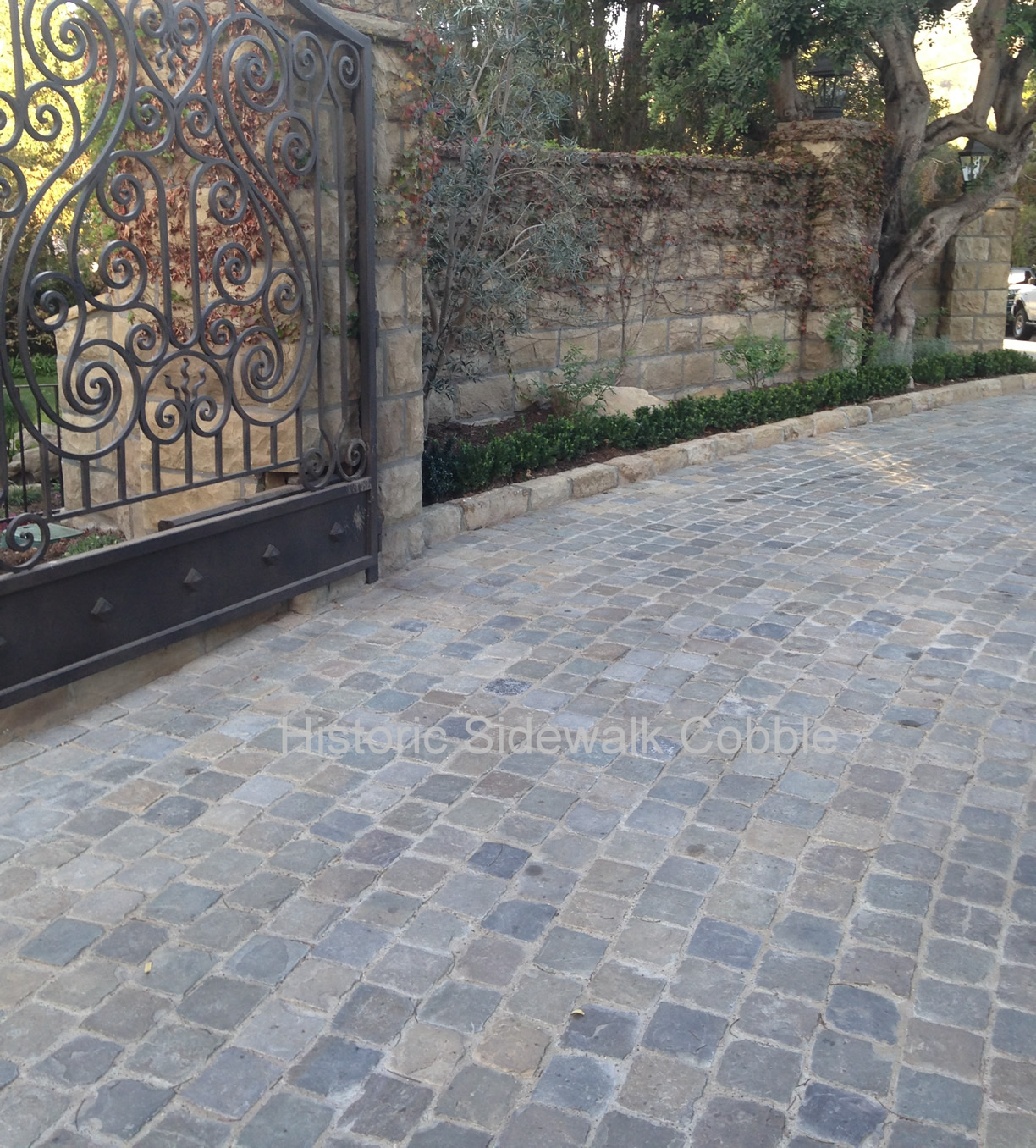 Antique Reclaimed Historic Sidewalk Cobble Antique