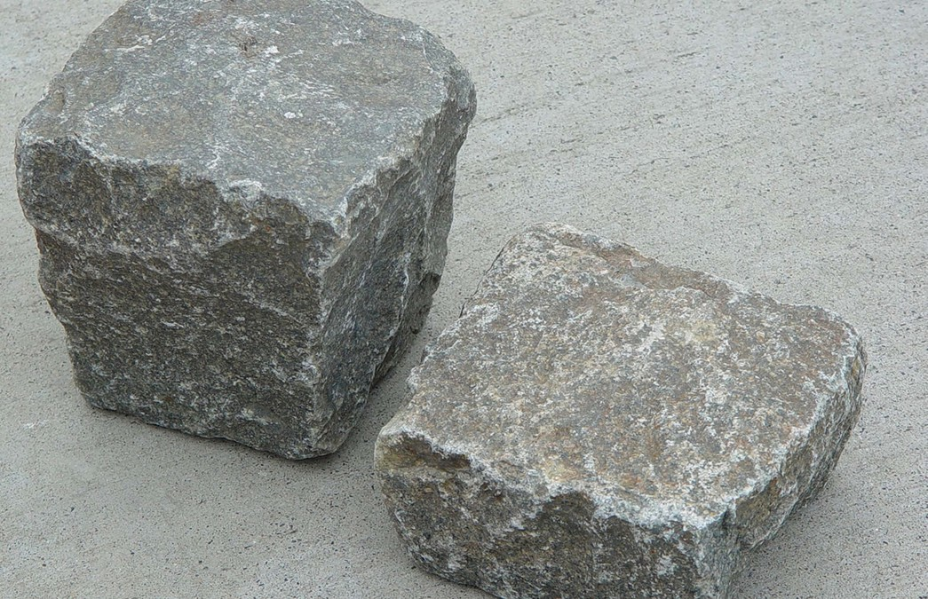 Genuine Antique Cobblestone Pavers Available Sawn or Sliced Thin