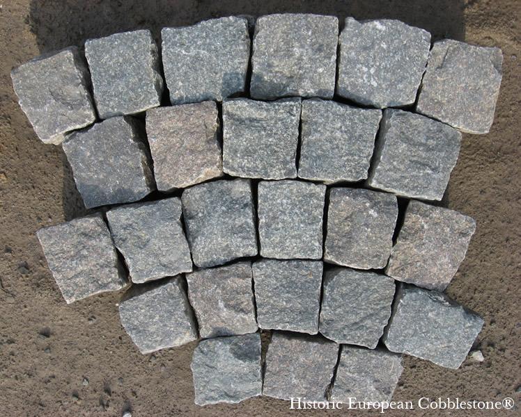 Granite Stone Blocks : Antique reclaimed granite cobblestone
