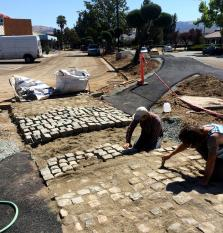 Bike Path Offers Riders a Challenge With Antique Cobblestone!
