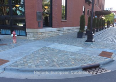 Antique Reclaimed Cobblestone and Curb