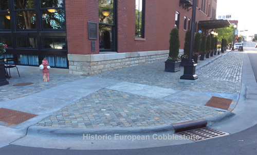 Antique Cobblestone and Reclaimed Curb at The Charmant Hotel