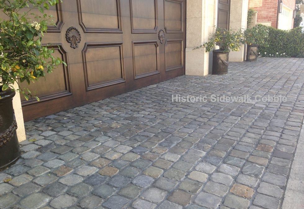 Cobblestone Stones For Driveways : Historic sidewalk cobble antique reclaimed old granite