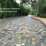 Antique Cobblestone and Reclaimed Limestone Curb