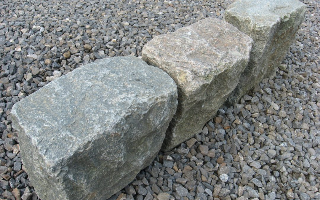 Granite Stone Edging : Antique reclaimed granite curb border or edging