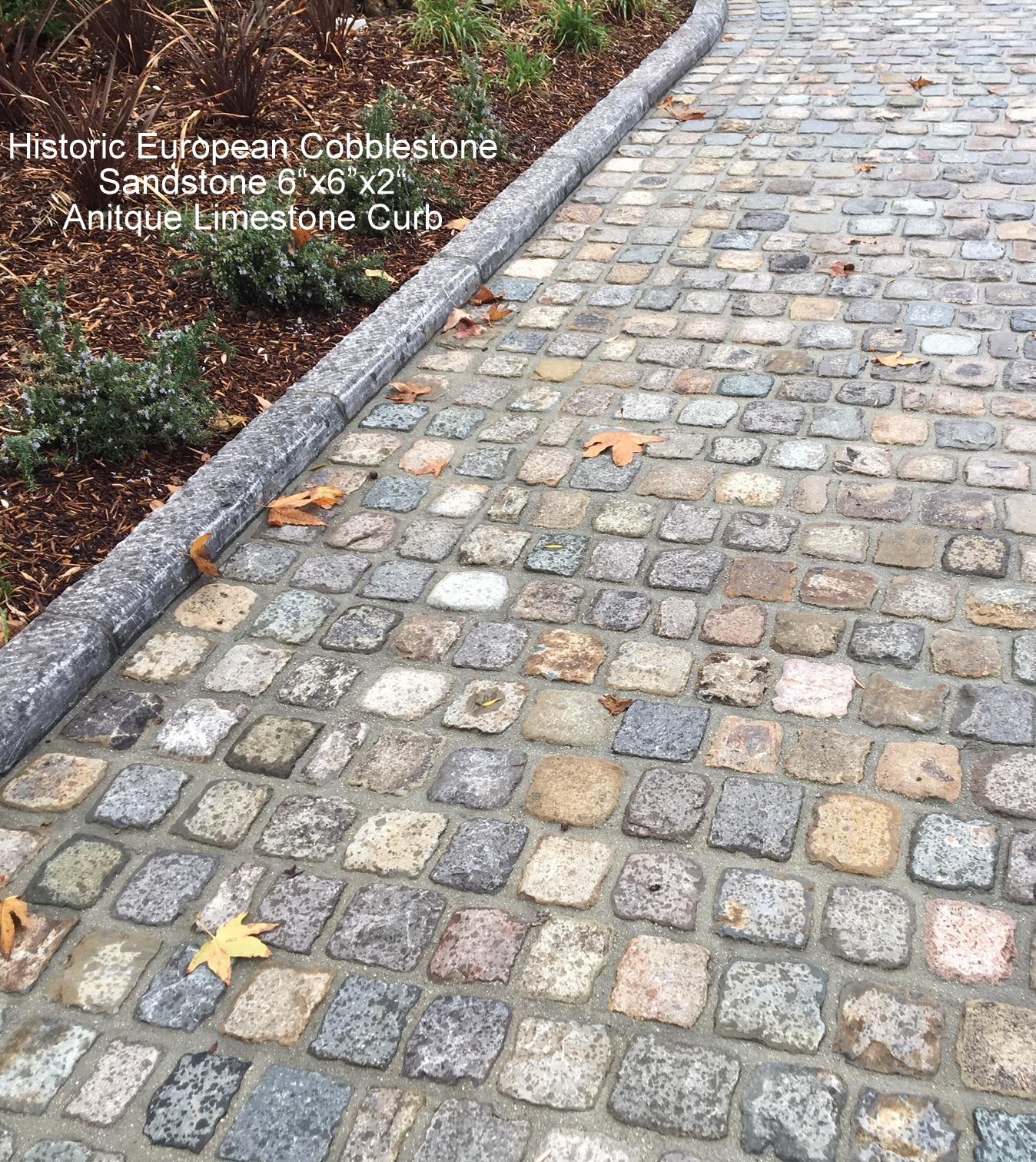 Reclaimed Concrete Blocks: ANTIQUE RECLAIMED SANDSTONE COBBLESTONE