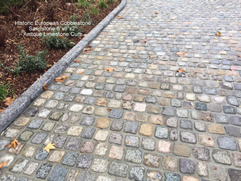 Reclaimed Antique Cobblestone and Curb Driveway Creates a Lasting Impression!