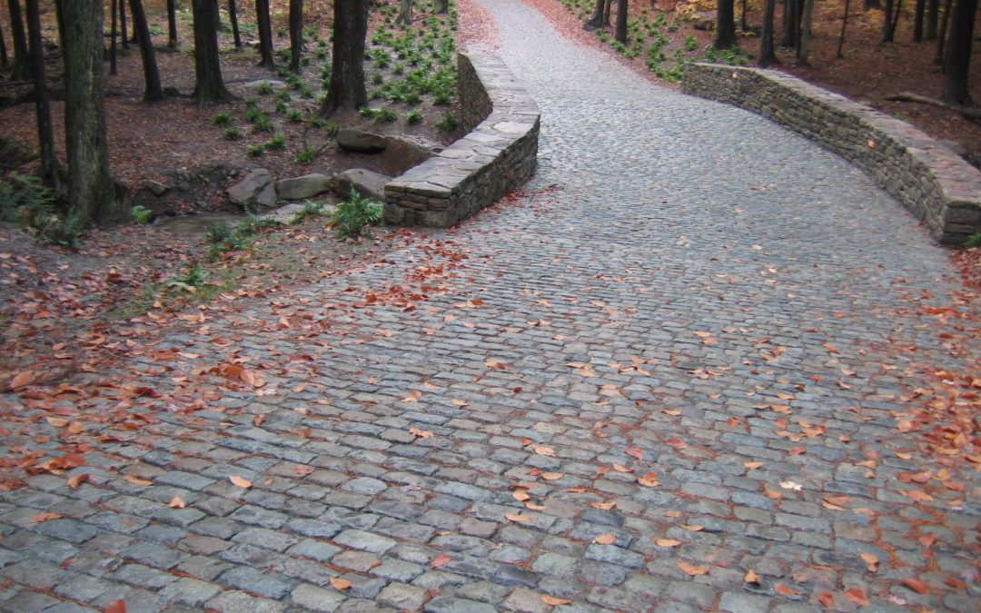 Salvaged Cobblestone and Curb