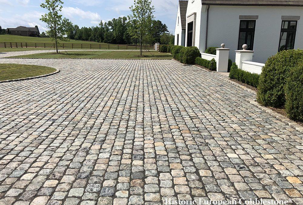 Granite Cobblestone Driveway Makes A Stately Impression!